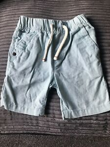 Boys Next Linen Shorts Fab Condition.... Mint Green Age 12-18 Months