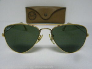 Vintage-B-amp-L-Ray-Ban-Small-Classic-Large-Metal-Arista-Gold-L0207-52mm-USA