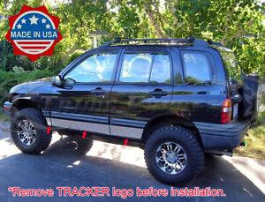 1999-2004 Chevy//Geo Tracker 2Dr Chrome Rocker Panel Trim Stainless Steel 6Pc