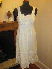 LAURA LEES MAINLINE DRESS £160 S 10 white new embroidery boho wedding