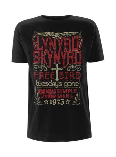 NEW /& OFFICIAL! Lynyrd Skynyrd /'Free bird 1973 Hits/' T-Shirt