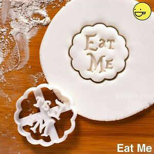 tea cup Teapot plunger cookie cutter set clock Alice Wonderland theme 4 pcs