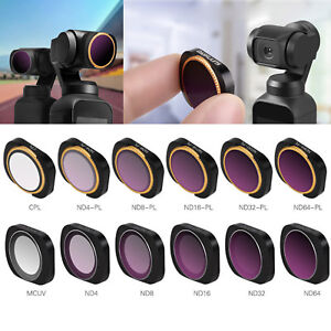 VRfamily Camera Lens Filter Set with ND CPL MCUV Light Adjustment Combination Lens for DJI OSMO Pocket 4pcs ND-X