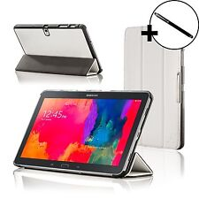 Leather White Smart Folding Case Cover for Samsung Galaxy Tab PRO 10.1 + Stylus