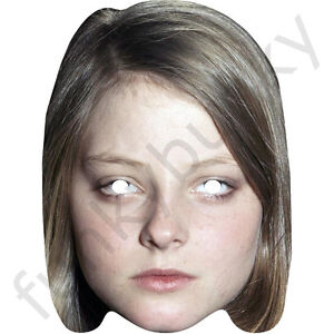 80s Card Face and Fancy Dress Mask Celebrity Mask Jodie Foster