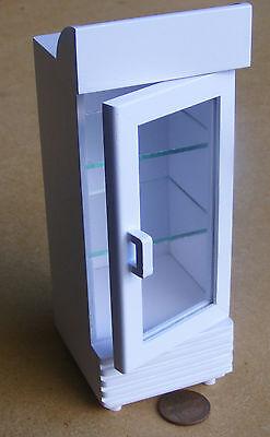 1:12 Scale White Painted 2 Door Drink Display Cooler Tumdee Dolls House Shop