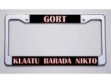 New Listingclassic Scifi Gortklaatu Barada Nikto License Plate Frame