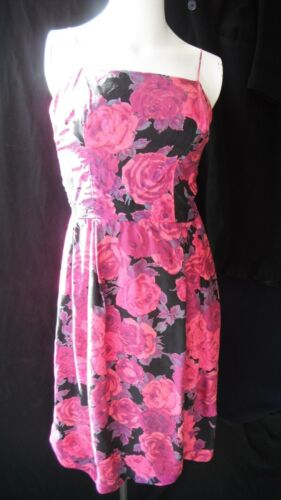 True vintage 1960's silk floral European couture c