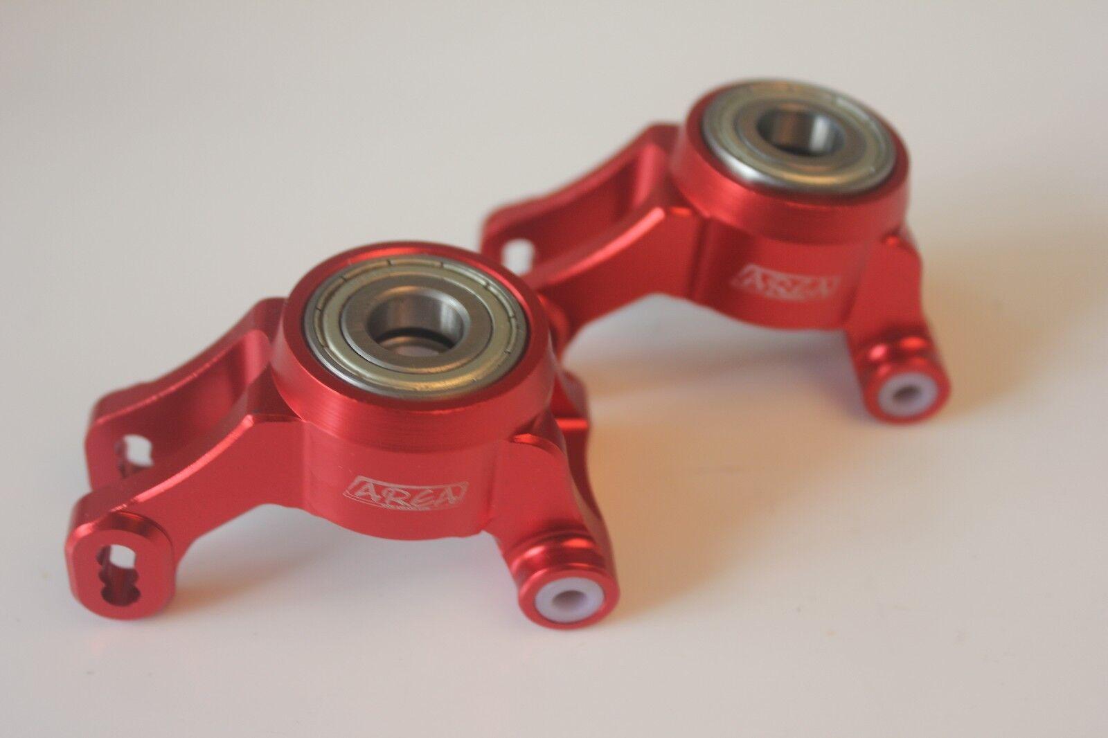 Trasero de aleación Area CNC Cubo de rueda portador para DBXL XL Rojo ampliar Cojinete versión