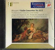 CD album: Mozart: violin concertos N° 4 & 5. Pinchas Zukerman. sony. C4