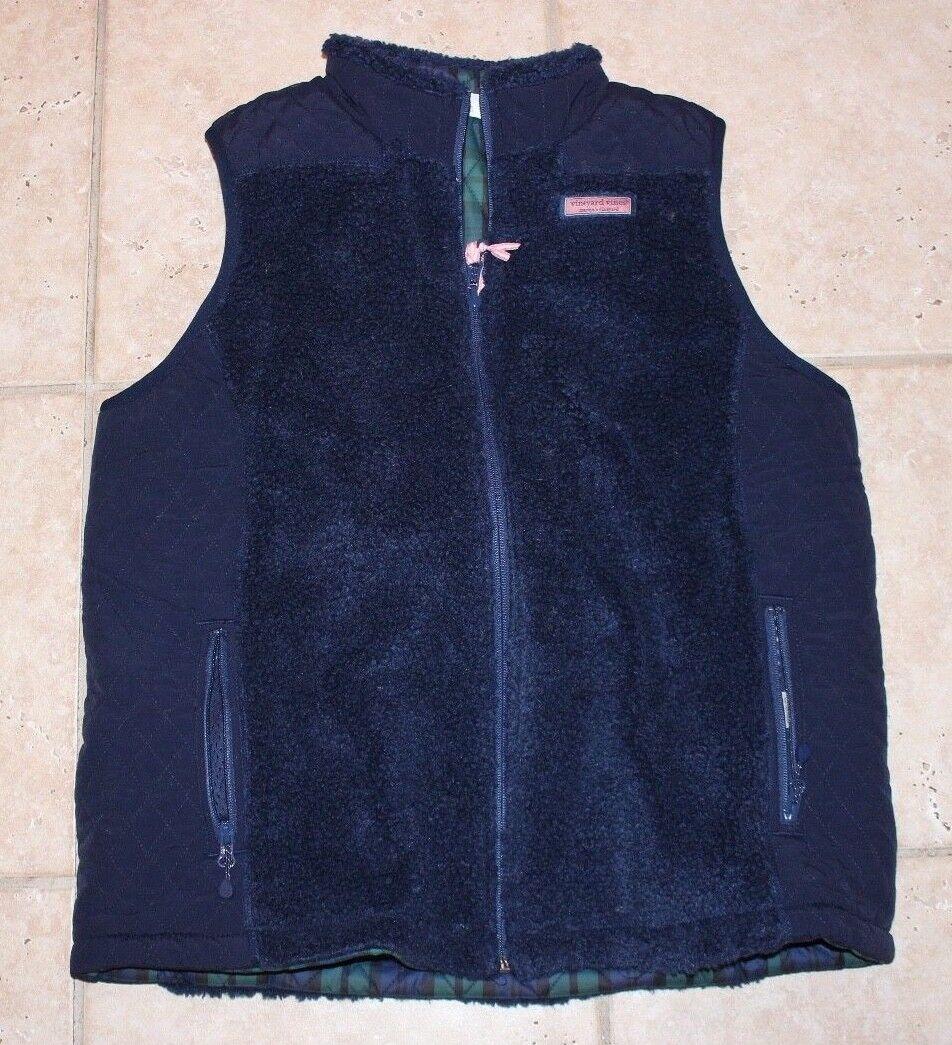 NWT Vineyard Vines Womens Medium Reversible Sherpa Vest