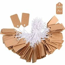 300 Pieces Marking Tags Kraft Price Writable Blank Labels Display With Elastic X