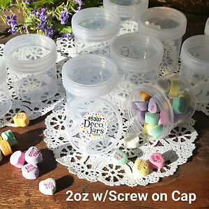 18-RC-Parts-Jar-Plastic-2-Ounce-Empty-Hobby-Container-Screw-Cap-Reusable-USA