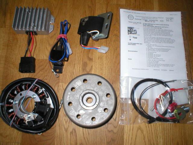 MZ ETS 250  Powerdynamo  12V Lichtmaschine mit kontaktl. Zündung