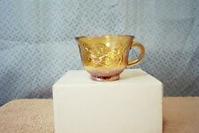 INDIANA GLASS AMBER CARNIVAL GLASS PUNCH CUP PRINCESS PATTERN MINT