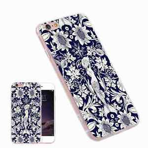 Mermaid-Flower-Painting-Fashion-TPU-Phone-Case-Cover-for-iPhone-Samsung-Huawei