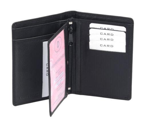 schwarz Ausweistasche Ausweishülle Ausweismappe LEAS in Echt-Leder