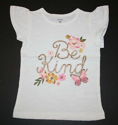 New Carter/'s Girls 4T 5T Sister Vibes Gold Glitter Graphic Tee Big Sister Top