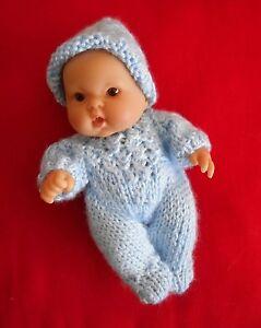 002cf1ee2 Doll Clothes Hand-knit Blue Romper Set Fits 7