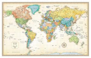 Rand mcnally laminated classic world map laminated poster print image is loading rand mcnally laminated classic world map laminated poster gumiabroncs Images