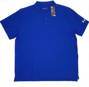 Under-Armour-Heat-Gear-Brand-New-Blue-4XL-Loose-Polo-Shirt
