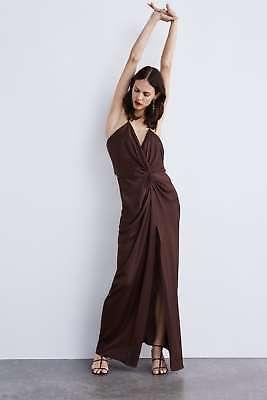 Zara Fw18 Melanzana Con Cinturini Annodati Dress Open Back Sexy Taglia L 8469/944 Rrp £ 89-mostra Il Titolo Originale Sentirsi A Proprio Agio
