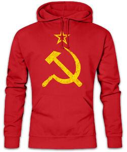 Russia Unione Udssr Logo Sovietica Socialismo Vintage Felpa Ddr Hoodie Cccp IvYwqO0