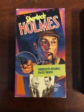 Sherlock Holmes Faces Death (VHS, 1988) Basil Rathbone Pre Owned VHSSHOP.COM