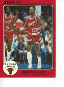 Quintin Dailey Autographed 1985 STAR Company Big Chicago Bull Deceased Rare B653