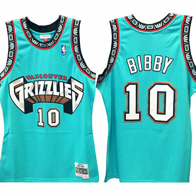 Men's Vancouver Grizzlies Mike Bibby 10 Mitchell & Ness NBATeal Swingman Jersey   eBay