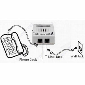Household Telephone Ringer Sound Amplifier White With black wire connection JMX*