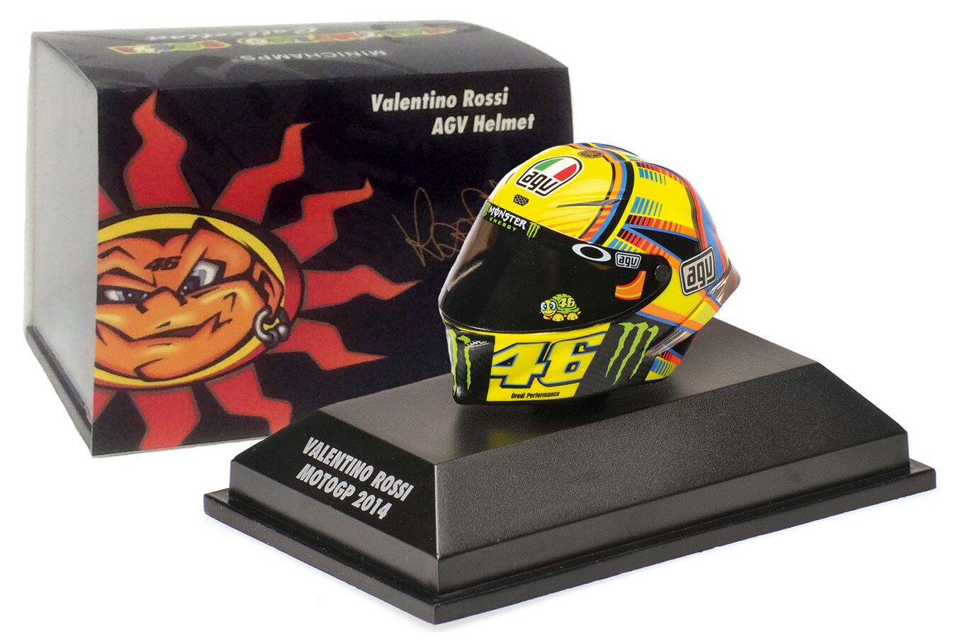 Minichamps valentino rossi agv casque motogp 2014-échelle 1 8