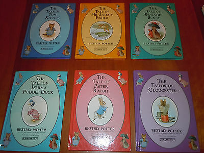 Set 6 Beatrix Potter Stories Peter Rabbit & Friends 1993 Penguin Group HC EUC