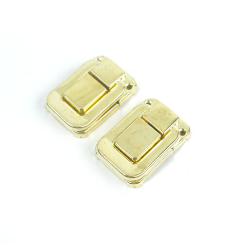 2x Square Drawbolt Closure Latch for Guitar Case or luggage,Gold Plated 47mm