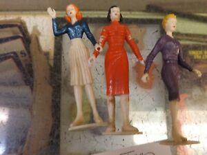 MPC-Mr-Teen-and-Teenettes-Vintage-Three-Painted-Woman-Figures-MODEL-KITS-RARE