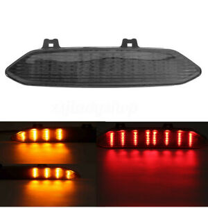 12V-LED-Rouge-Ambre-Feux-Arriere-Clignotant-Fumee-pour-Yamaha-YZF-R1-2002-2003