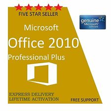 ORIGINAL OFFICE PROFESSIONAL PLUS 2010 32/64-BIT LICENSE KEY- SCRAP PC