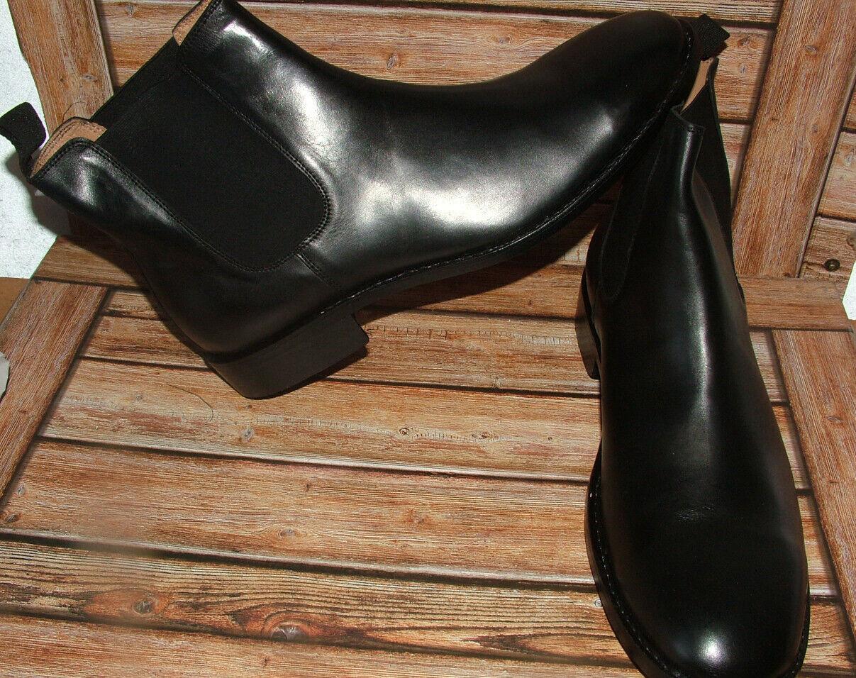 nouveau Hommes Church marcher Tout Cuir Noir Bottines Chelsea Chaussures Taille 11