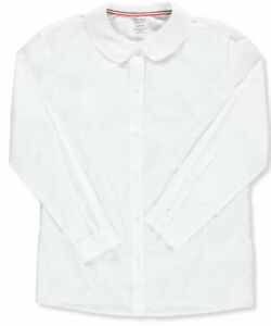 French Toast Big Girls L//S Peter Pan Blouse