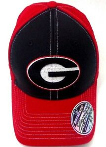 ac0a5af8401 Georgia Bulldogs Zephyr NCAA Fitted Hat Cap Red Black Mens Large ...