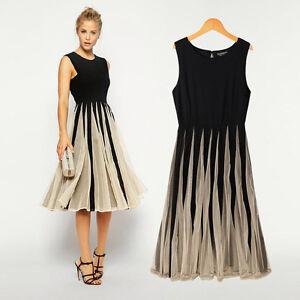 Damen-Cocktailkleid-Abendkleid-Kleid-Clubwear-Sommer-Knielangkleider-GR-36-44