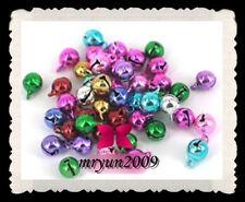 Free Lot 300PCS Wholesale charm bracelet mixed color Craft Supplies bells 6MM