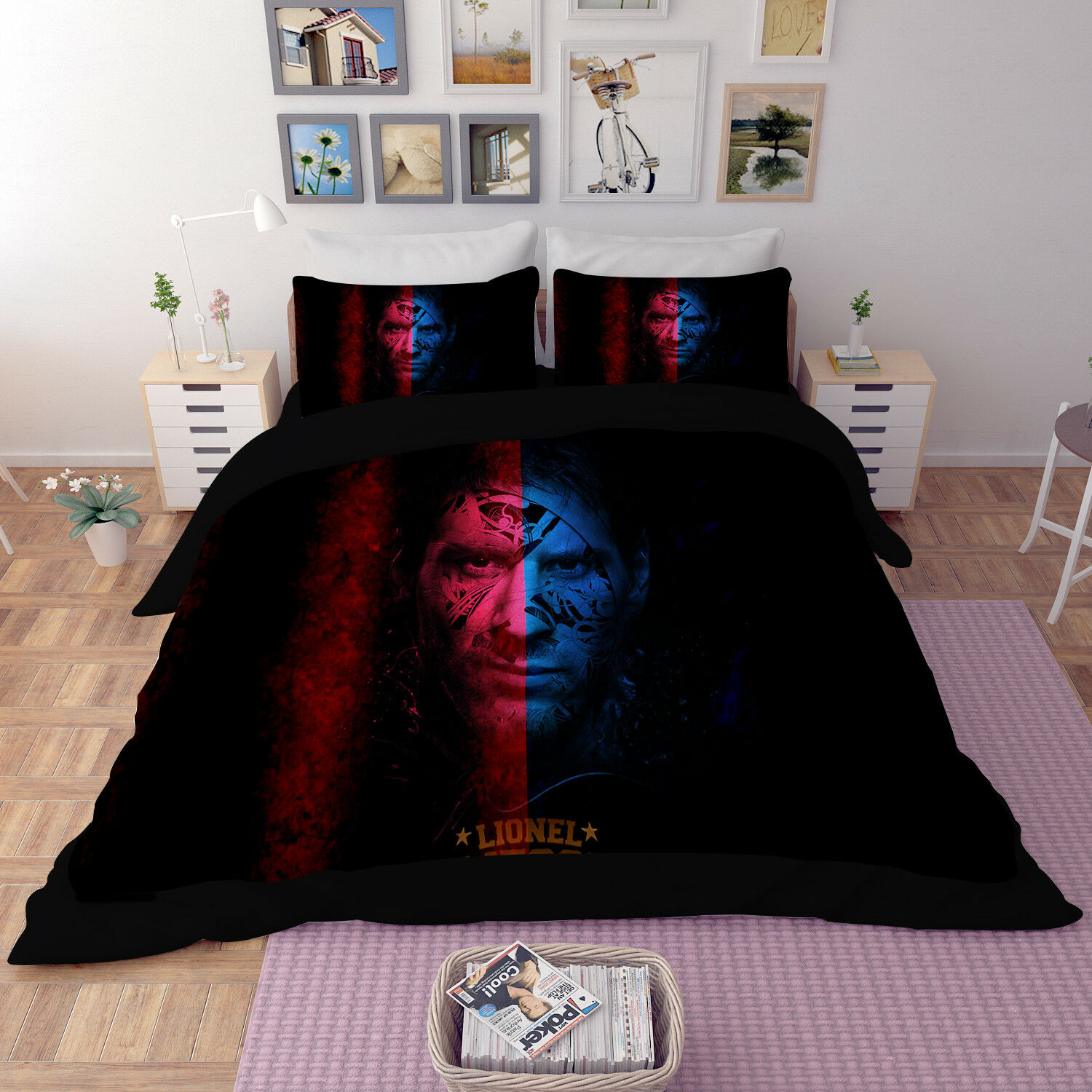 3D Athlete Pattern 69 Bed Pillowcases Quilt Duvet Cover Set Single Queen King CA