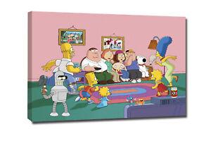 Stampa su tela canvas - Simpson family - Arredo casa - Quadri moderni -