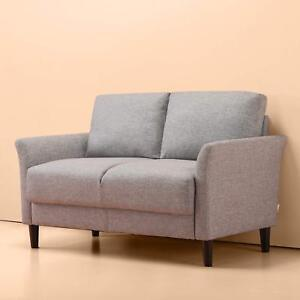 Details about Sofa Couch Gray Loveseat Modern Style Grey Bedroom Porch Dorm  Room Chair Cushion