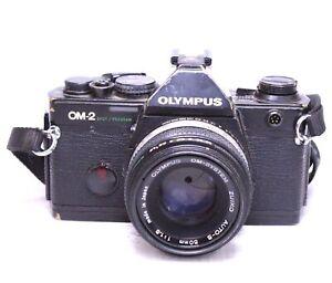 OLYMPUS-OM-2-SLR-Camera-With-Olympus-OM-System-50mm-f-1-8-Lens-SPARES-G23