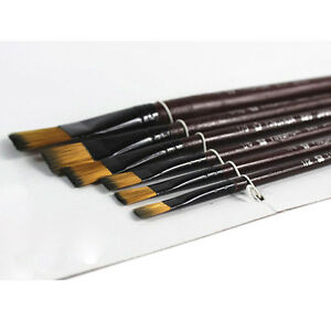 6Pcs/Set Nylon Acrylic Oil Paint Brushes For Art Artist Supplies Watercolor RS
