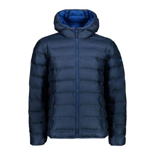 CMP Daunenjacke Jacke MAN JACKET FIX HOOD dunkelblau wasserabweisend leicht
