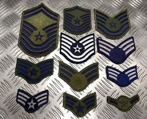 Authentique-USA-Air-Force-USAF-Publie-Rang-Badge-Rustines-Divers-Styles-Haut-Gun