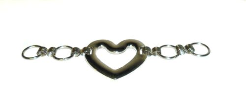 CHOOSE QUANTITY SILVER HEART DOUBLE SLIDER BELT BUCKLES ART HR-40 FREE P/&P